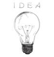Electric lightbulb vector image