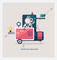 Startup machine vector image