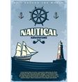 Retro Nautical Poster vector image