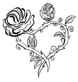 valentine heart forest berries sketch rose frame vector image