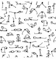 yoga set seamless pattern for your design vector image