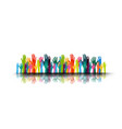 a group people hands up volunteer or voting vector image vector image