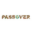 abstract passover with seder plate in middles vector image vector image