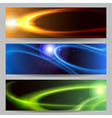 Abstract Space Banner Set vector image