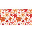 amazing floral pattern with flowers bright vector image