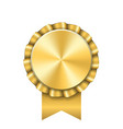award ribbon gold icon golden medal design vector image