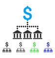 bank scheme flat icon vector image vector image