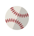 baseball isolated on white with clipping path vector image vector image