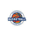basketball logo emblem design vector image vector image