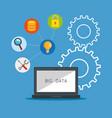 big data set icons vector image vector image