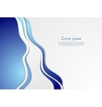 Bright blue abstract waves background vector image vector image