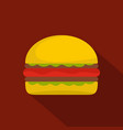 burger icon flat style vector image vector image