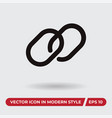 chain icon in modern style for web site and vector image vector image