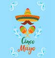 cinco de mayo 5th may a festive poster to the vector image vector image
