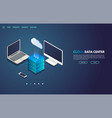 cloud storage isometric banner vector image vector image