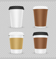 coffee paper cups realistic vector image