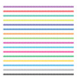 colorful collection yarn strings vector image