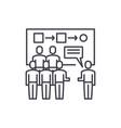 customer segmentation line icon concept customer vector image vector image