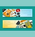 discover new places set banners time to travel vector image vector image