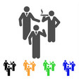 discussion group icon vector image