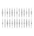 dividers collection vertical decorative lines vector image