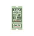 entry ticket to irish pub patrick day celebration vector image vector image