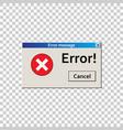 error warning message user interface window virus vector image