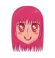 face girl anime manga comic vector image vector image