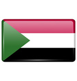 Flags Sudan in the form of a magnet on vector image