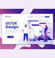 flat modern design of website template - ui design vector image vector image