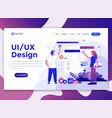 flat modern design website template - ui design vector image vector image