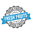 fresh fruits stamp sign seal vector image vector image