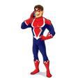 friendly superhero talking vector image