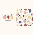 fruit lover t-shirt design and seamless pattern vector image vector image