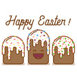 funny cartoon easter cake vector image vector image