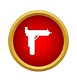 Gun icon in simple style vector image vector image
