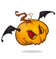 halloween pumpkin isolated on white vector image vector image