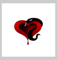 heart with snake vector image vector image