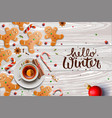 hello winter poster gingerbread cookies candy