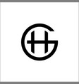 initials gh logo templateletter gh vector image vector image