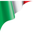 italy flag on a white vector image vector image