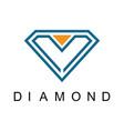 letter m diamond logo vector image