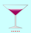 martini glass it is icon vector image vector image