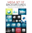 mega collection of glass elements vector image