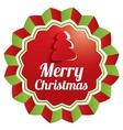 Merry Christmas Greeting sticker Christmas label