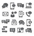 message icons set on white background vector image vector image