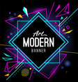 modern art banner abstract wallpaper vector image