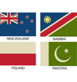 national flags symbol eps 10 vintage vector image vector image