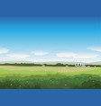 nature summer field landscape vector image vector image
