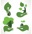 nature symbols vector image vector image